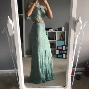 Two Piece Homecoming Dress